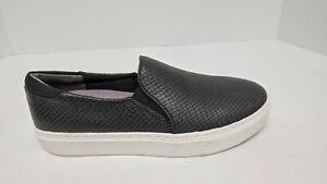 Dr. Scholl's Slip-On Sneakers, Black Snake, Women's 7 M