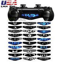 Trap Skull 30 Pcs Light Bar Cover Sticker Skin For Sony PS4 Slim Pro Controller