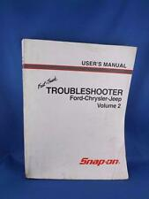 FAST TRACK TROUBLESHOOTER USERS MANUAL FORD CHRYSLER JEEP SNAP ON CAR REPAIR