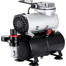 1/6 HP Dual Action Airbrush Set Single-action Spray Gun Air Brush Compressor Kit