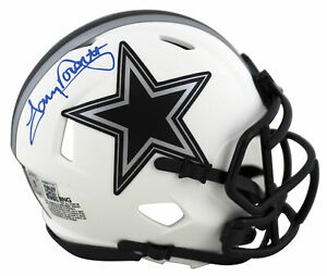 Cowboys Tony Dorsett Authentic Signed Lunar Speed Mini Helmet BAS Witnessed