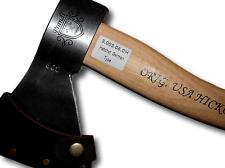 Prandi Vintage línea alemán tipo hacha/Hachuela 800g Cabeza de hacha, eje 38cm Hickory