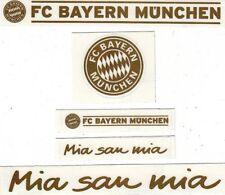 5 Aufkleber + Auto + FC Bayern München + Gold + NEU + Waschanlagensicher + #1