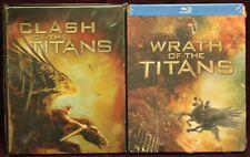 CLASH OF THE TITANS & WRATH OF THE TITANS (SteelBook, BluRays, 2010/2012)