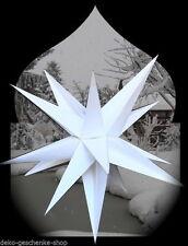 estrellas de Adviento Plegable Ø 52 exteriores NAVIDAD 15 Zack Blanco 4m Cable