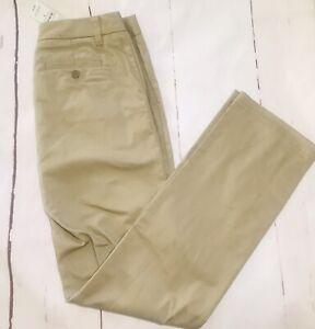 NWT Lands End Junior So Perfect Blend Plain Front Pants Size 5