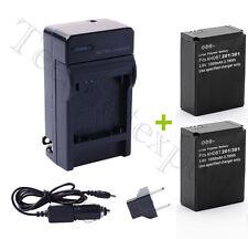 2x 1050mAh Batterie+ Chargeur Voiture Eu et US adaptateur Pour Gopro Hero3 3+ **
