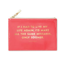 """KATE SPADE - Pencil Pouch -  Set - """"Same Mistakes"""" - Six Pieces Included!"""