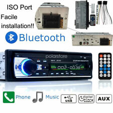 1 DIN Car Stereo 12V FM Radio SD/USB/AUX Bluetooth Remote Head Unit MP3 Player