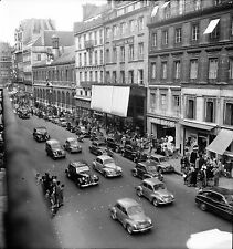PARIS c. 1950 - Autos  Circulation  Rue du Havre - Négatif 6 x 6 - N6 P19
