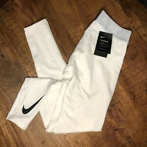 Nike Base Layer Tights Compression Therma Pro White 929711-100 Mens Size Medium
