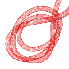 Nylon Mesh Tubing Beading & Jewellery 8mm Red - 3 metre [F56]