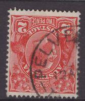 Tasmania PELVERATA postmark (type  2b) on KGV rated R by Hardinge
