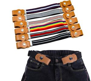 Belts for Child Buckle-Free Elastic Belt No Buckle Stretch Belt for Kids Toddler