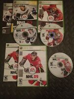 LOT: NHL 2007 THRU 2012 FOR MICROSOFT XBOX 360 GOOD CONDITION