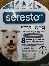 Bayer Seresto Flea and Tick Collar for Small Dog Under 18 lbs 8 Month Protection