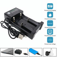 USB Intelligent 18650 Li-ion Battery 4.2V Dual Slot Plug Vape Charger UK
