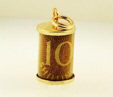 9Carat Yellow Gold Ten Shillings Note Charm (13x21mm)