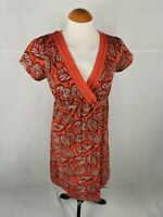 Ladies Dress Size 10 MANTARAY Orange Smart Casual Day Party Summer