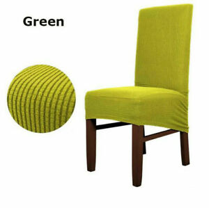 Dining Seat Chair Cover Slip Stretch Wedding Banquet Party Removable Stool Cover