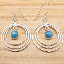 Simulated LARIMAR LOVELY Earrings, 925 Silver Overlay ONLINE SHOPPING Jewelry