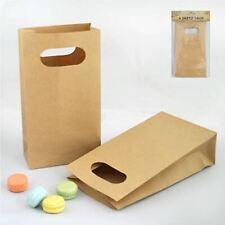 4-62 BROWN PAPER Party Bags 180 x 100mm Retro Cute Kraft DIE CUT Loot Lolly