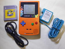 F/S Game Boy Color Pokemon Limited 3rd Anniversary With Game Adapter cable