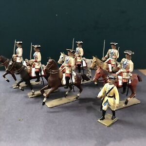 CBG Mignot: Cavalry Of Louis XV, Embellished. Post War c1950s