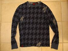 Hawk Skateboarding Logo Pattern Long Sleeve Sweater S / M