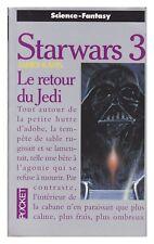STARWARS 3 STAR WARS  pocket LE RETOUR DU JEDI AVEC CARTE  TBE  1996