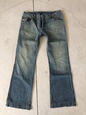 Diesel Zathan 32x33 Bootcut Jeans Safado 31 VTG Viker Zaf Zatiny Blue Distressed