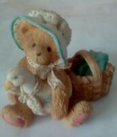 Cherished Teddies - Katie - 950440 - Bear With Hat and Goose Figurine ©1991