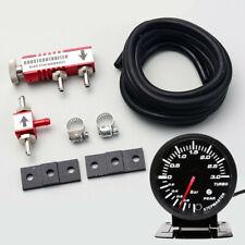 """2.5"""" Car Turbo Boost Gauge Meter 3Bar 12V Kit + Adjustable Control Valve 1-30PSI"""