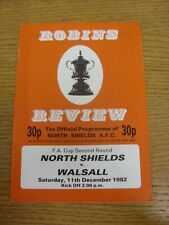 11/12/1982 North Shields v Walsall [FA Cup] (Staples, removed). Thanks for viewi
