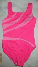Freestyle Danskin leotard gymnastics dance pink sparkle studs Size 7-8