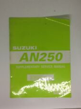 SUZUKI AN250 Supplementary Service Manual Genuine Used