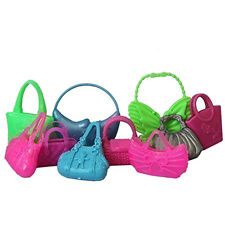 10PCS Colorized Fashion Morden Doll Bags Accessories Toy For Barbie Doll Gift