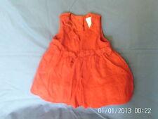 Baby Girls 0-3 months - Burgundy Red Cord Pinafore Dress - Next