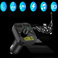 Wireless Bluetooth 5.0 FM Transmitter 3 Music Hands-free Radio AUX Adapter 2 USB