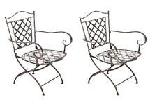 #BB247 2x Stuhl Adara bronze Gartenstuhl Terrassenstuhl Metall Eisenstuhl Stuhl