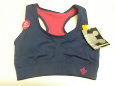 WOMENS SIZE S LILY OF FRANCE NAVY/PINK REVERSIBLE SPORTS BRA NEW NWT #4180