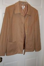Talbots Camel Hair jacket Size 14 Made in Italy (MSRP $499.99)  Tall ex long arm