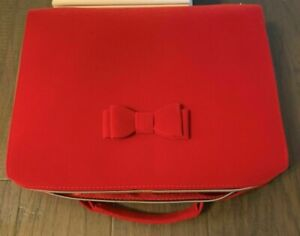 Estee Lauder Makeup Cosmetic Bag TRAIN CASE Velvet RED 2020 NEW