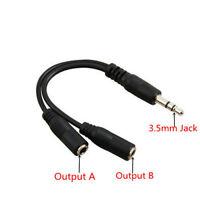 3.5mm Mâle Vers Double Femme Jack Audio Prise Câble Casque Stéréo Répartiteur