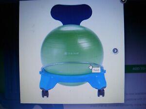 Gaiam Classic Stability Ball Chair, Balance, Yoga For Kids, Blue/Green 05-62241