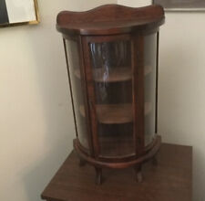 """Vintage Wooden Curio Cabinet- Hand Made- Tabletop- 23"""" tall."""
