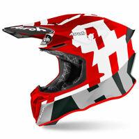 Airoh Off Road Twist 2.0 Moto Motorcycle Motorbike Helmet Frame Matt Red