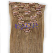 """15""""18""""-28"""" Clip In Remy Human Hair Extensions 7PCS Full Head Straight Ombre Hair"""