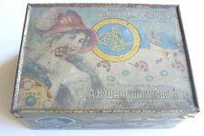 "Russian Imperial Tobacco Tin Box ""Gold Marka"" Shaposhnikov & Co. St. Petersburg"
