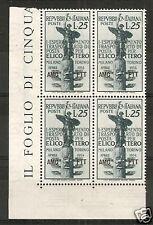 1954 TRIESTE A ELICOTTERO QUARTINA MNH ** - RR6039-5